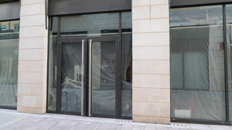 agence bancaire fermée