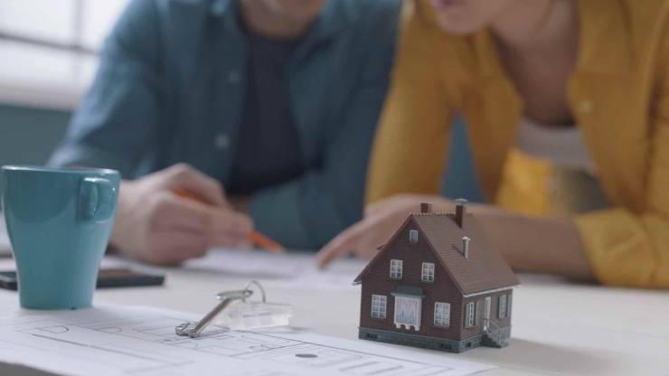 Couple construction immobilier