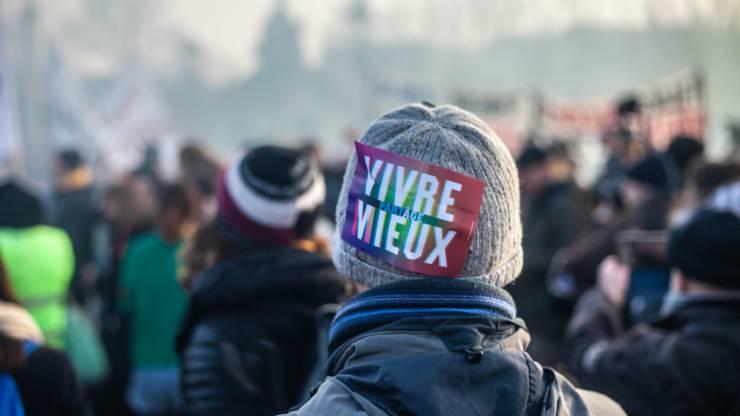 Manifestation contre la réforme des retraites à Paris le 24 janvier 2020